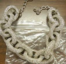 crystal chain link necklace images Kyle richards 39 chunky pave chain link necklace big blonde hair jpg