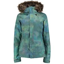 o neill curve ski jacket women s winter snow coat in green all