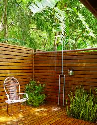 Outdoor Shower Room - what can beat an outdoor shower