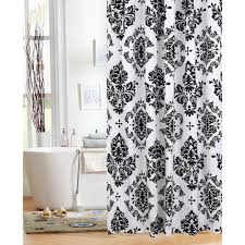 Paris Themed Bathroom Sets by Black And White Showerrtain Paris Hooks Stripertainblack 89