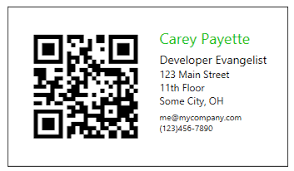 Business Card With Qr Code How To Create Business Cards With Qr Codes Using Radbarcodeq