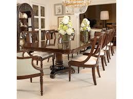 century furniture dining room double pedestal dining table 309 304