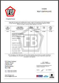 fb leaf chain safety test certificates