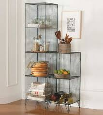 sleek laminate floor decorated with fascinating wire shelving unit