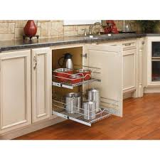 Home Depot Kitchen Base Cabinets by Rev A Shelf 6 5 In H X 12 75 In W X 3 5 In D Chrome Cabinet