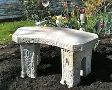 amazon com cast stone roman curve castle rock bench 3 piece hand