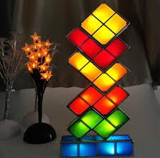 Diy Led Desk Lamp Diy Tetris Puzzle Light Stackable Led Desk Lamp Constructible