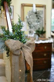 Decorating Banisters For Christmas Glam Ish Christmas Entry Decor At The Picket Fence