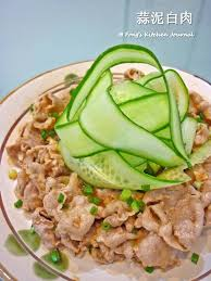 journal cuisine fong s kitchen journal sliced pork in garlic sauce 蒜泥白肉