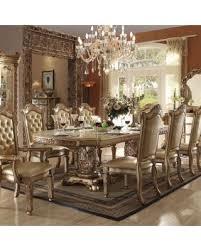 Pedestal Dining Table Savings On Acme Furniture Vendome Double Pedestal Dining Table