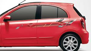 red nissan car car accessories nissan micra nissan india