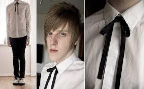 tie ribbon andrew m black ribbon tie asos white shirt topman black