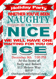 naughty and nice christmas cocktail party invitations party