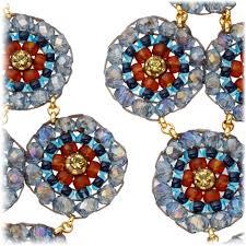 gunmetal chandelier earrings miguel ases labradorite and quartz chandelier earrings in blue lyst