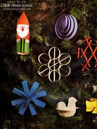how to craft clever christmas ornaments from paper 1960 click