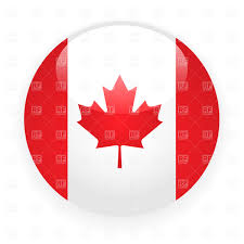 Flag Circle Canada Button Flag Royalty Free Vector Clip Art Image 1485