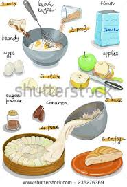 how to make a cake step by step apple pie step by step recipe stock vector 235276369