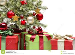 decorated christmas tree and gifts stock photography image 34612552