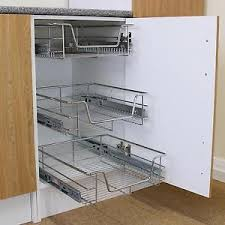 Pull Out Kitchen Wire Baskets Slide Out Storage Cupboard Drawer - Slide out kitchen cabinets