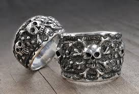 skull wedding rings skull wedding ring set skull wedding bands pirate