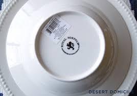 dollar store dinnerware desert domicile