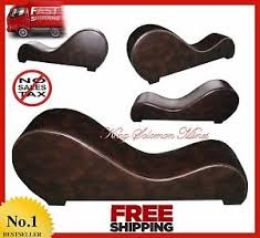 Bonded Leather Loveseat Yoga Chair Chaise Lounge Tantra Relaxation Modern Bonded