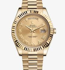 replica rolex day date series gold stainless steel watches