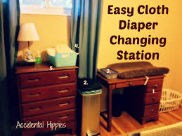 Diaper Changing Table by Easy Cloth Diaper Changing Station Accidental Hippies