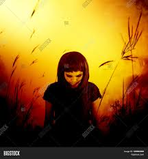 halloween movie background sadness lonely walking in forest horror background for
