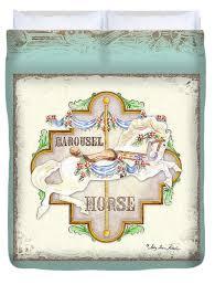 carousel horse duvet covers fine art america