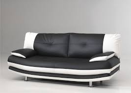canapé noir et blanc convertible noir blanc