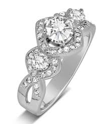 Unique Wedding Rings For Women by Unique Trilogy 1 Carat Infinity Round Diamond Engagement Ring In