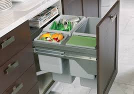 Pull Out Cutting Board Above The Pull Out Compost Or Garbage Can - Kitchen cabinet garbage drawer
