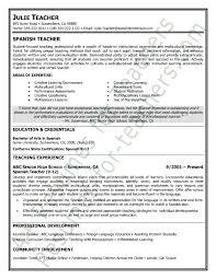 Fresher Teacher Resume Sample Teaching Resume Examples Elementary Teacher Resume Examples