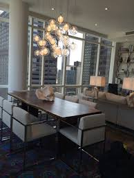 glass chandeliers for dining room kadur custom blown glass dining