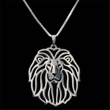 wholesale animal necklace images Lion pendant silver plated necklace women handmade choker for pet jpg