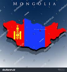 Mongolia On World Map Vector 3d Mongolia Map Flag On Stock Vector 396872410 Shutterstock