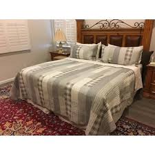 eddie bauer fairview cotton reversible 3 quilt set on sale