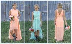 coral bridesmaid dresses 100 2016 mint orange country high low bridesmaid dresses 100