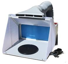 paint booths spray booths spray systems state shipping portable hobby airbrush paint spray booth kit w exhaust