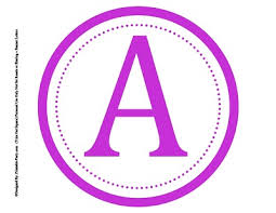 8 best images of printable alphabet letters in purple circle