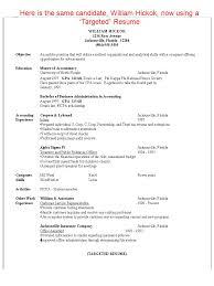 Sample Targeted Resume by Targeted Resume Corpedo Com