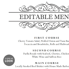 wedding menu templates calligraphic wedding brunch menu template wedding menu cards