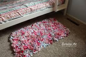 Crochet A Rag Rug Everyday Art Diy Handmade Rag Rug Tutorial