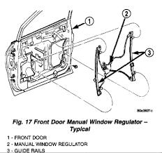 2001 dodge dakota window regulator i a 2001 dodge grand caravan that has a driver s window that