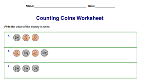 Counting Coins Worksheet Generator The Best Collection Of Printable Math Worksheets On The Web