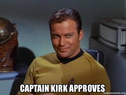 Kirk Meme - captain kirk approves make a meme