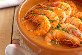 cuisine crevette crevettes sauce à l ail une cuisine culinaire