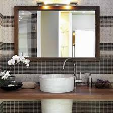 custom bathroom mirror frames making framed mirrors for bathrooms