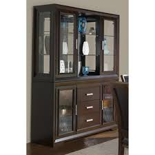 brentwood contemporary china cabinet with etched glass doors by